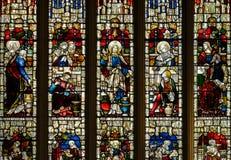 Bad Abbey Perpendicular Gothic Window Lizenzfreie Stockfotografie