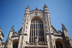 Bad-Abtei ein berühmter Markstein in der Stadt des Bades in Somerset England Stockfotografie