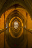 Bad in Alcazar, Sevilla, Spanje Royalty-vrije Stock Fotografie