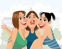 Bad angle for selfie. Vector illustration of a bad angle for selfie vector illustration