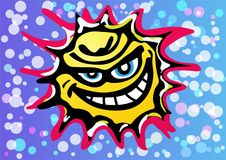 Bad Angry Sun Laughing Vector vector illustration