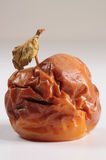Bad apple. Conceptual. Abstract shape of a rotten apple with dried stem Stock Photo
