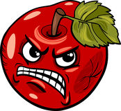 Bad apple saying cartoon illustration Stock Photos