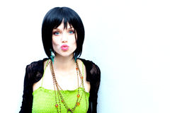 Bad Rock and Roll Chick Royalty Free Stock Photos