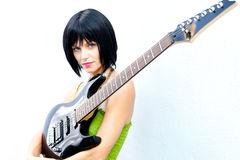 Bad Rock and Roll Chick Stock Images