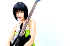 Bad Ass Rock and Roll Chick Royalty Free Stock Image