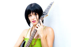 Bad Ass Rock and Roll Chick Royalty Free Stock Images