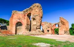 Bad av Caracalla, Rome, Italien royaltyfria foton