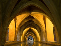 Bad av Maria De Padilla, Alcazar av Seville Royaltyfri Bild