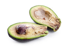 Bad avacado. Closeup on white background Royalty Free Stock Images