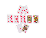 Bad beat Texas Holdem. Isolated on a white background Royalty Free Stock Photos