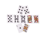 Bad Beat Texas Holdem. Isolated on a white background Royalty Free Stock Photo