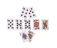 Bad Beat Texas Holdem. Isolated on a white background Royalty Free Stock Photography