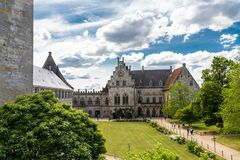 Free Bad Bentheim, Germany - June 9, 2019. View To The Manor Of The Historical Castle Bentheim, Visible Walking Tourists. Largest Castl Royalty Free Stock Image - 150644876