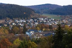 Bad berleburg in autumn germany stock photography