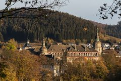 Bad berleburg in autumn germany stock images