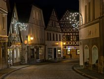Bad Berneck during Christmas royalty free stock image