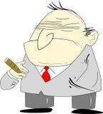 Bad Boss. Cartoon alike of an old man depicted as a grumpy bad boss Royalty Free Stock Photo