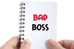 Bad boss text concept stock photo
