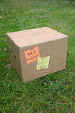 Bad box. Box containing bad memories: not to be opened Royalty Free Stock Images