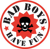 Bad boys skull. Illustration art for apparel industry: fashion graphics design for teens Stock Image