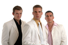 Bad Boys in White Royalty Free Stock Image