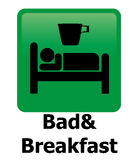 Bad and breakfast Stock Image