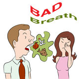 Bad Breath. An image of a man with bad breath Stock Photos
