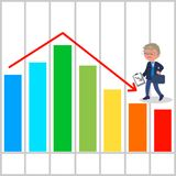 Bad business chart vector Stock Images