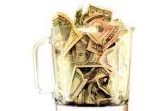 Bad business. Wasting hard earned money Royalty Free Stock Photography