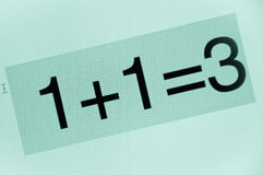 Bad calculation Royalty Free Stock Images