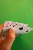 Bad cards... Royalty Free Stock Photo