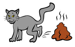 Bad Cat Illustration. JPG and EPS Royalty Free Stock Photo