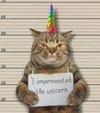Cat fake unicorn in a prison