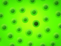 Bad Cell. A green bad cell among the group Royalty Free Stock Images