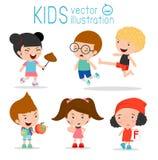 Bad Child Behavior,bad kids,bad boy,bad girl, children bad, The evil of child on white background,.child Bullies, kid jump kick Stock Photos