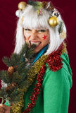 Bad Christmas woman Royalty Free Stock Image