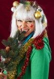 Bad Christmas woman royalty free stock image