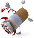 Bad cigarette. 3d generated picture Stock Images