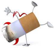 Bad cigarette. 3d generated picture Royalty Free Stock Photo