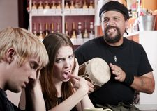 Bad Coffee House Musician Royalty Free Stock Photo