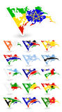 Bad condition flags of Africa 2 Royalty Free Stock Photos
