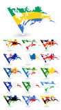 Bad condition flags of Africa 4 Royalty Free Stock Photos