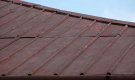 Bad condition metal roof surface. stock photography