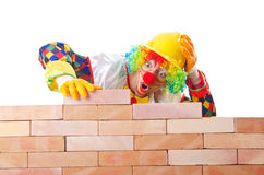 Bad construction concept with clown Stock Image