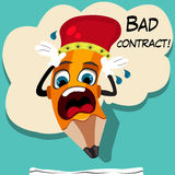 Bad contract wood pencil Stock Image
