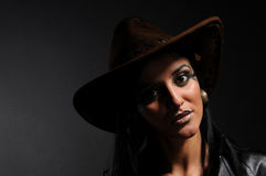 Bad cowgirl Royalty Free Stock Photo