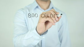 Bad Credit ? We Can Help !, Writing On Transparent Screen