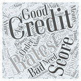 Bad credit score word cloud concept vector background Royalty Free Stock Photo