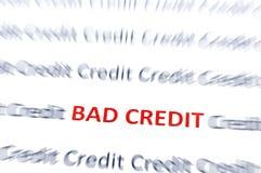 Bad Credit red royalty free illustration